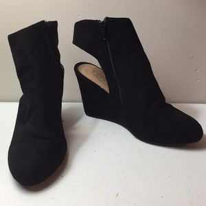 Bamboo open heel ankle boot